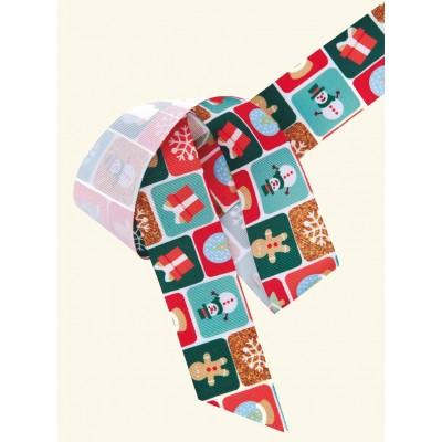Fita de gourgurão tema natalino - colorida