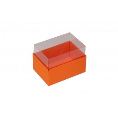 Caixa para 2 macarons - Laranja / Cenoura
