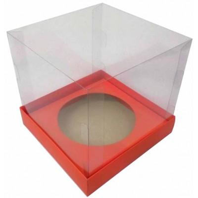 Caixa Panetone 18x18x20 - Vermelha