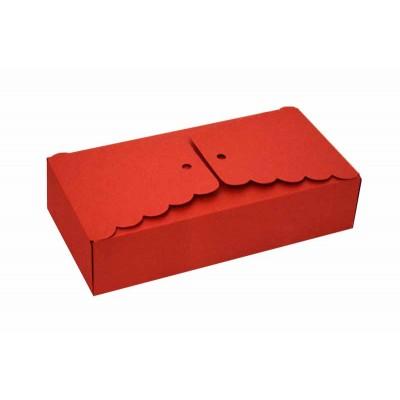 Caixa Babados - Vermelho- 17x8x4 cm