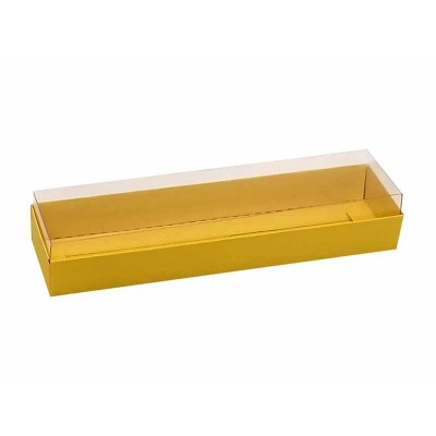 Caixa 4 macarons deitados - Amarela