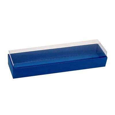 Caixa 4 macarons deitados - Azul Royal