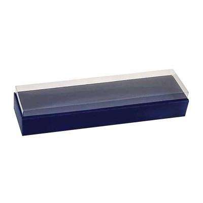 Caixa 4 macarons deitados - Azul Escuro
